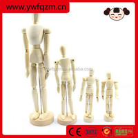 factory direct primary color movable wooden jointed doll