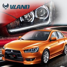CE CCC E-mark certifications China wholesale cheap japanese car parts mitsubishi automobile lancer projector headlights