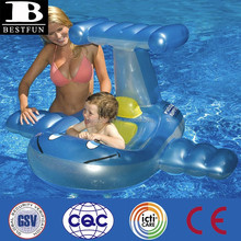 promotional customized baby inflatable swimming seat baby plane swimming seat boat seats