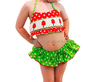Sweetest little baby girls cute polka dot children bathing suit
