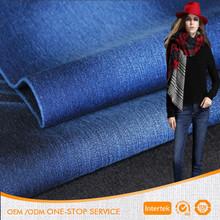 High quality stretch cotton lycra indigo twill denim fabric for jeans