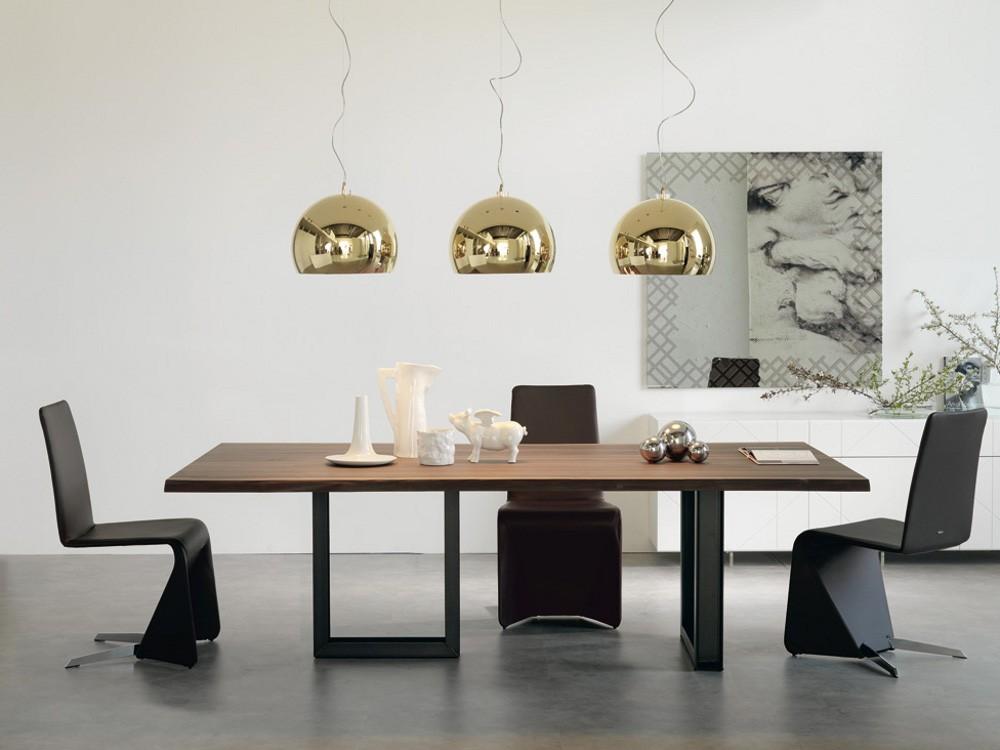 Ferro gamba del tavolo da pranzo con piano in legno sala for Mobili di design personalizzati
