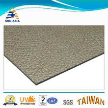 UV protected brown embossed plastic sheet