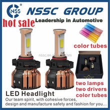 NSSC h6 energy conservation 5000k Jar-proof high power 4 different color tubes LED head light for car