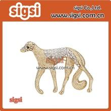 Vivid dog crystal rhinestone animal brooch for decoration