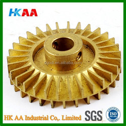 Water Pump Part Double Side Gold Tone Brass Impeller