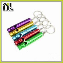 High quality colorful military Aluminium metal keychain marine stainless steel whistle