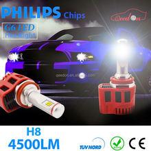 Qeeon plug n play accessories light high low beam headlamp h11 headlight power h7 led