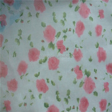 African organza small rose sublimation printed fabric
