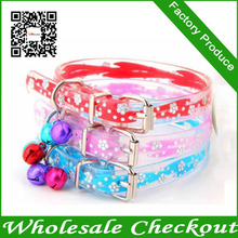 C013 Provide Poodle Pet Collar Dog PU Transparent Chain Red, Pink, Blue Factory Produce Fast Shipping