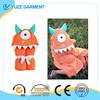 Maddie Monster One -Eyed Orange Children's Hooded Towels