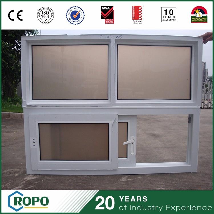 Mejor precio pvc slide frame vidrios dobles ventana de guillotina