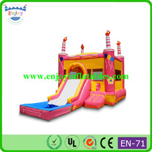 balloon birthday cake inflatable combo house, cartoon inflatable combo, inflatable jumping castle bouncy house
