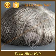 Natural Looking 2015 New Grey Hair Top Closure