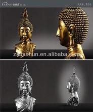 plata poyresin cabeza de buda de la religión de recuerdos