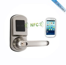 Zinc Alloy digital electronic mobile smart home bluetooth nfc door lock