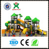 Guangzhou QIXIN outdoor plastic playground equipments/slide for chinese/foreign kids game (QX-025A)