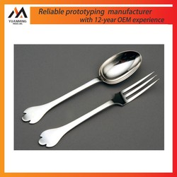 Engineering CAD Silver Spoon and Fork Rapid Prototype