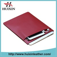 Red pu leather business 13 inch laptop bag tablet pc