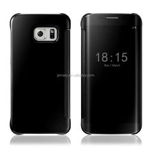 2015 New Design Premium mirror clear phone case cover for samsung galaxy s6 edge g9250 Phone Bag Cover