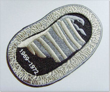 100% Coverage Custom Oval Embroidery Patch with Stitched Border