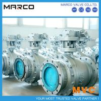 Largely demanding casted and forged steel trunnion mounted ten 10 inch dn250 ball valve or larger