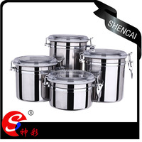 4PCS Hot Sale Stainless Steel Sealed Can Storage Canister