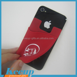 Hot eco-friendly reusable adhesive cheap advertising gifts silicone smart wallet