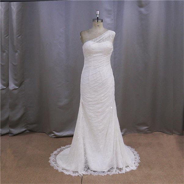 professionale 16 anni pesante perline pizzo tulle overlay semplice abito da sposa chic