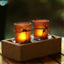 home&garden candle hodler decoration amber candle glass
