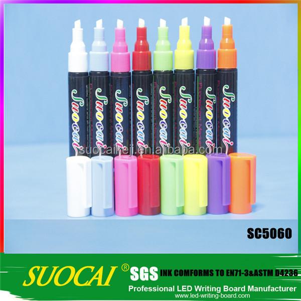 2014 high quality pen led advertising pen fluorescent marker pen
