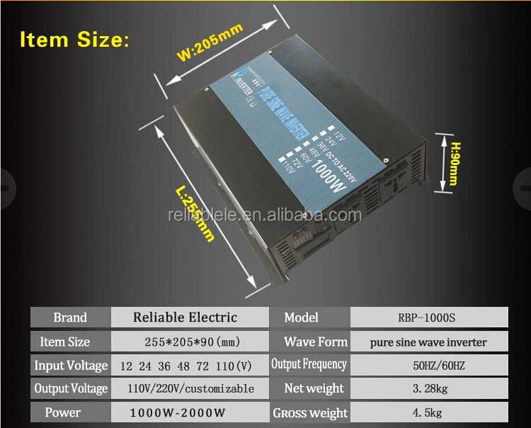 best solar panel inverter 1000w,pure sine wave inverter 1000w,1000w mini inverter