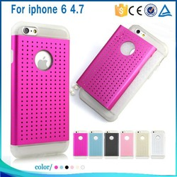 Hot sale bulk cell phone cases for iphone accessory, TPU Metal cell phone covers for iphone 6
