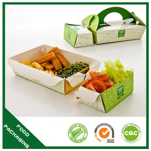 eco-friendly craft paper hot box food container disposable