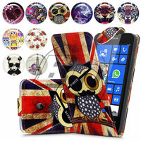 For Nokia Lumia 520 High Quality Print Flip PU Leather Case Cover Moible Phone Case
