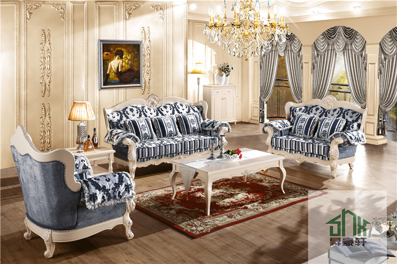 China made luxury living room furniture chinioti queen anne sofa set
