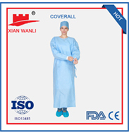 pp Non Woven surgicalshort sleeve msdical gown uniform