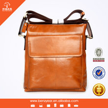 2015 New Arrival Fashion Design Genuine Leather Shoulder bags for Men