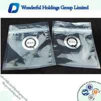2015 high quality transparent packaging wine bag with zipper / plastic bag for wine packaging