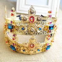 hot baroque crown headband jewelry tiaras for weddings, crystal headband(SWTJU459)