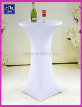 White Stretch Bar Table Cloth Spandex High Bar Cocktail Table Cover