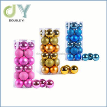 Wholesale 6/24PCs Christmas Tree Ornaments Balls Plastic 3/6/8cm Xmas Decorative Plastic Christmas Ball
