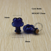 2ml flower shaped small glass bottles with corks