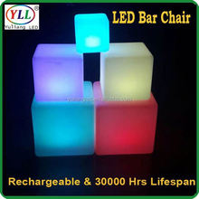 crystal base for flowers led cube&bar table light supply battery operated led light battery operated led light