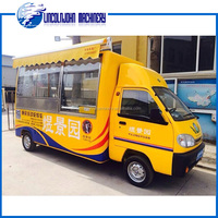 food trailer fast food car electric mobile food truck for sale in China