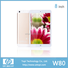 W80 Intel Tablet PC Window 8.1+Android 4.4 Tablet PC Quad Core Intel Atom Z3735F Chip 8 Inch IPS Screen Tablet