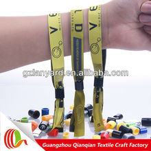 2013 Top popular custom fabric woven medtech wristbands