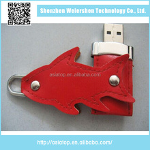 New design Support Multi-system Leather 4gb usb flash memory thumb drive