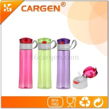 Gift wholesale outdoor sport 450ml empty water bottle with straw