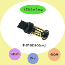T25 3156/3157 30SMD 2835 car led light DCV10-15V 820LM Auto car led tuning light/reverse light/tail lamp